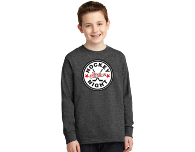 Port & Company® Youth Long Sleeve Core Cotton Tee - HOCKEY