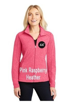 44N Port Authority® Ladies Heather Microfleece Full-Zip Jacket. L235