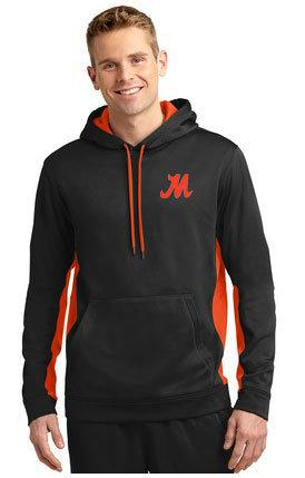 Product Logo Sport-Tek® Sport-Wick® Fleece Colorblock Hooded Pullover. ST235