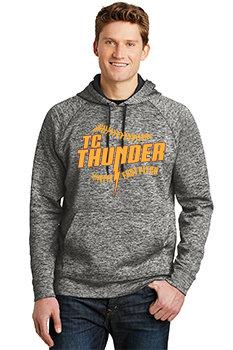 ADULT Sport-Tek® PosiCharge®Electric Heather Fleece Hooded Pullover