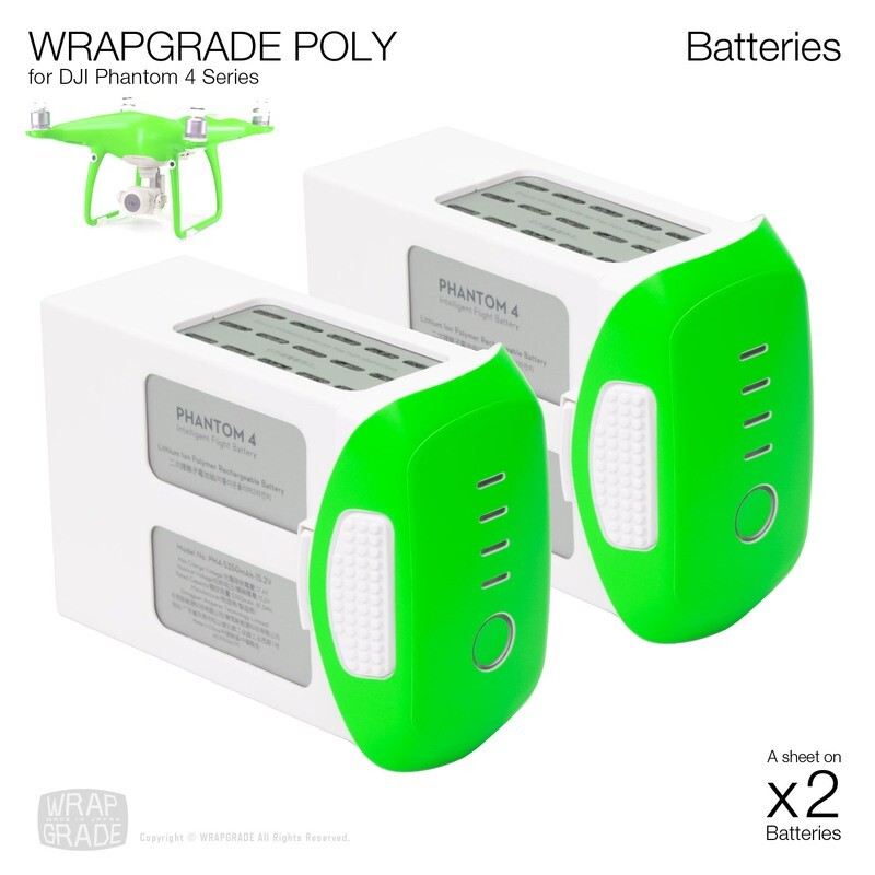 Wrapgrade Poly Skin for DJI Phantom 4 | Two batteries [17 colors]