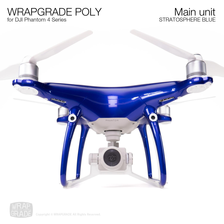 Wrapgrade Poly Skin for DJI Phantom 4   Main unit (STRATOSPHERE BLUE)