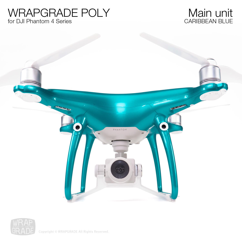 Wrapgrade Poly Skin for DJI Phantom 4   Main unit (CARIBBEAN BLUE)