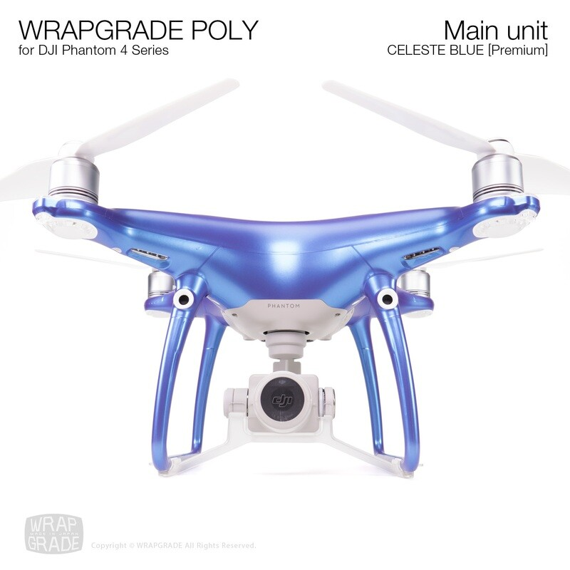 Wrapgrade Poly Skin for DJI Phantom 4 | Main unit (CELESTE BLUE)