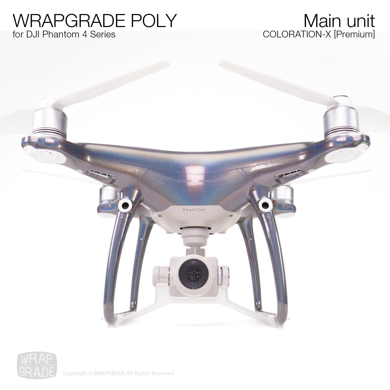 Wrapgrade Poly Skin for DJI Phantom 4   Main unit (Coloration-X)