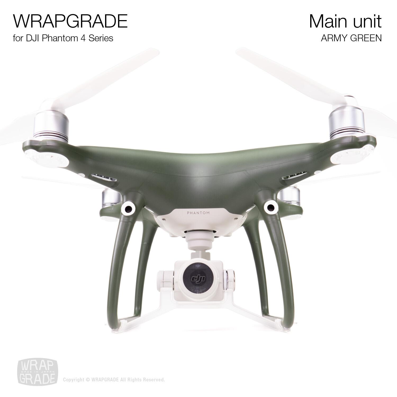 Wrapgrade Poly Skin for DJI Phantom 4 | Main unit (ARMY GREEN)
