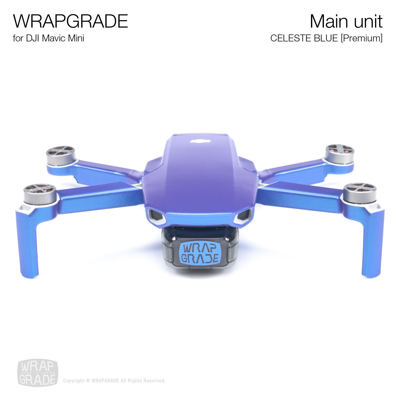 Wrapgrade Poly Skin for Mavic Mini | Main Unit (CELESTE BLUE)