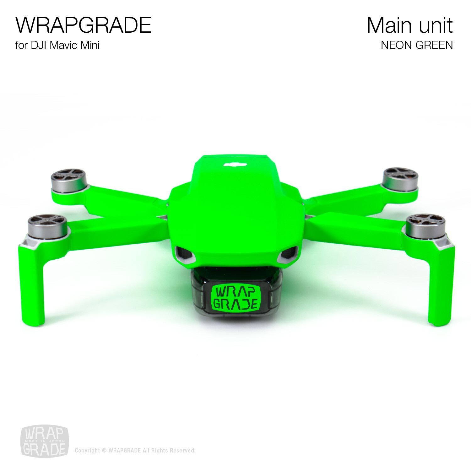 Wrapgrade Poly Skin for Mavic Mini | Main Unit (NEON GREEN)