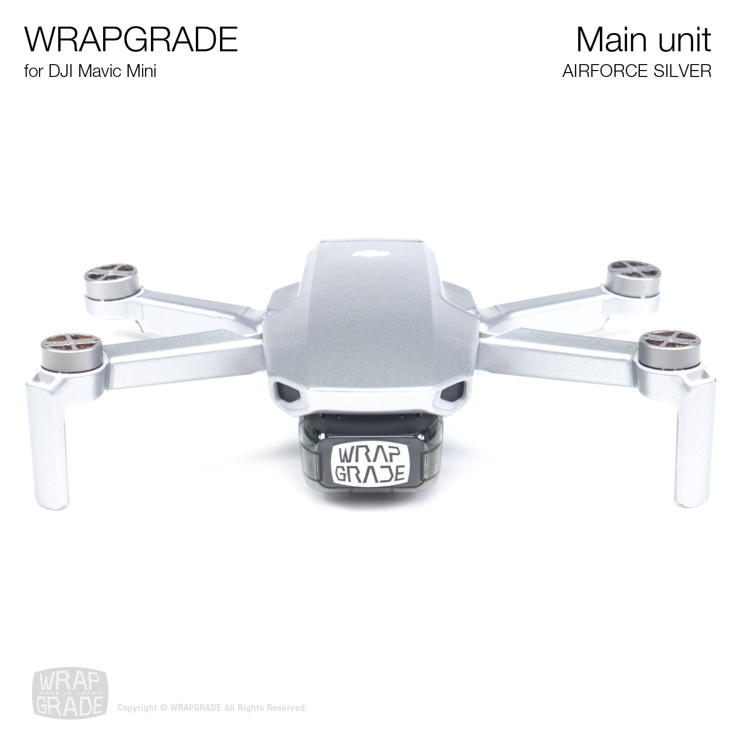 Wrapgrade Poly Skin for Mavic Mini | Main Unit (AIRFORCE SILVER)