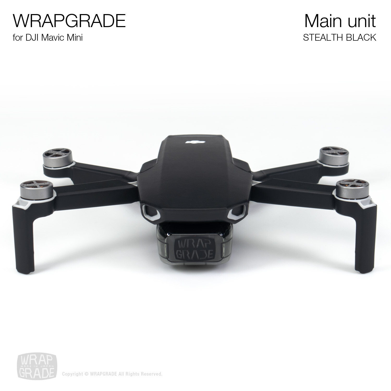 Wrapgrade Poly Skin for Mavic Mini | Main Unit (STEALTH BLACK)