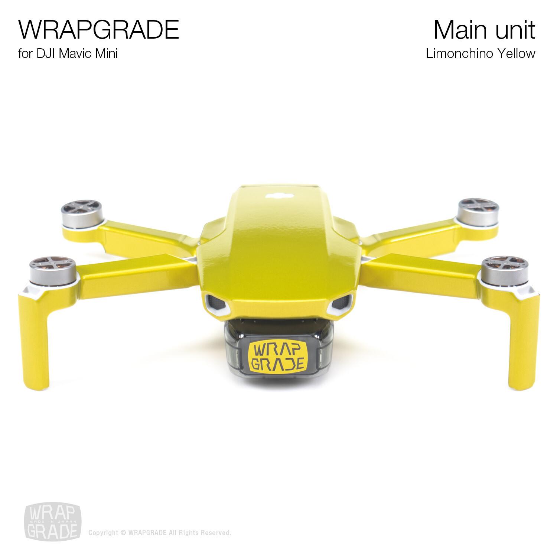 Wrapgrade Poly Skin for Mavic Mini | Main Unit (LIMONCINO YELLOW)