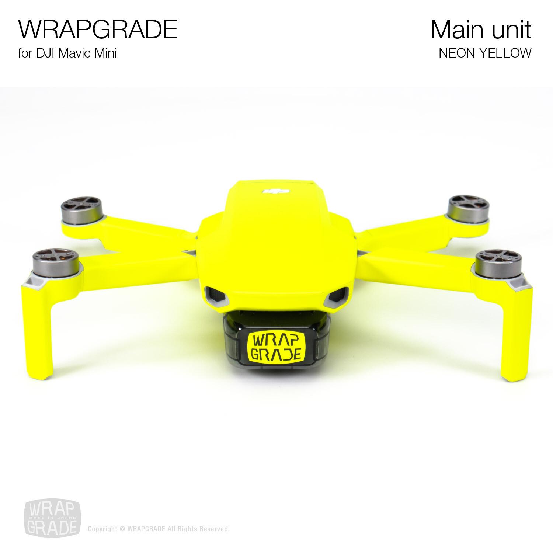 Wrapgrade Poly Skin for Mavic Mini | Main Unit (NEON YELLOW)