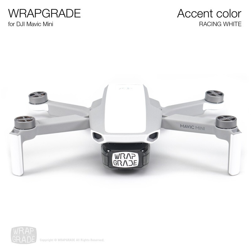 Wrapgrade Poly Skin for Mavic Mini | Accent color (RACING WHITE)