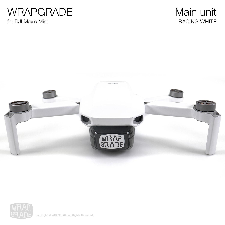 Wrapgrade Poly Skin for Mavic Mini   Main Unit (RACING WHITE)