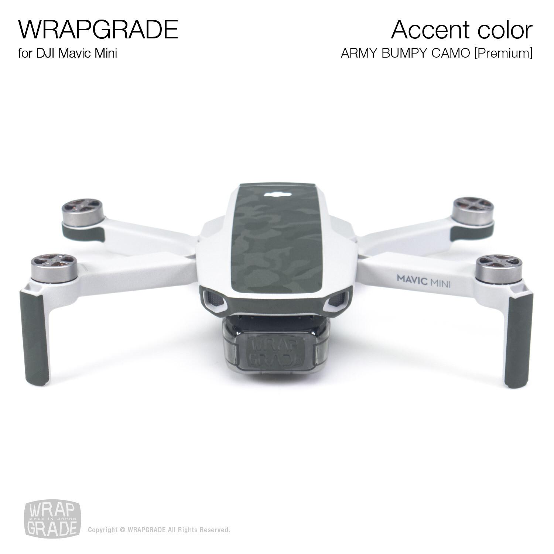 Wrapgrade Poly Skin for Mavic Mini   Accent color (ARMY BUMPY CAMO)