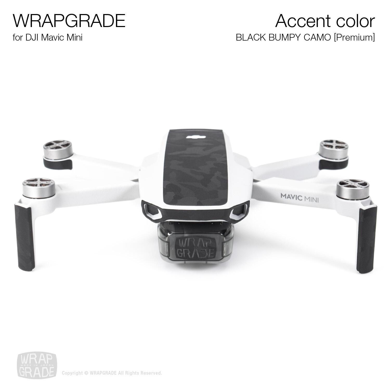 Wrapgrade Poly Skin for Mavic Mini   Accent color (BLACK BUMPY CAMO)