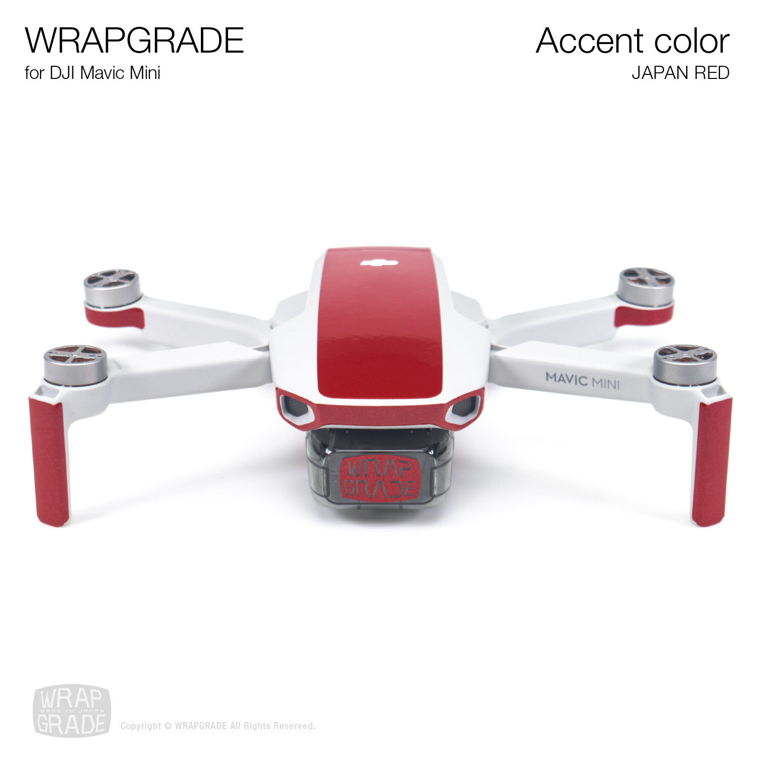 Wrapgrade Poly Skin for Mavic Mini | Accent color (JAPAN RED)