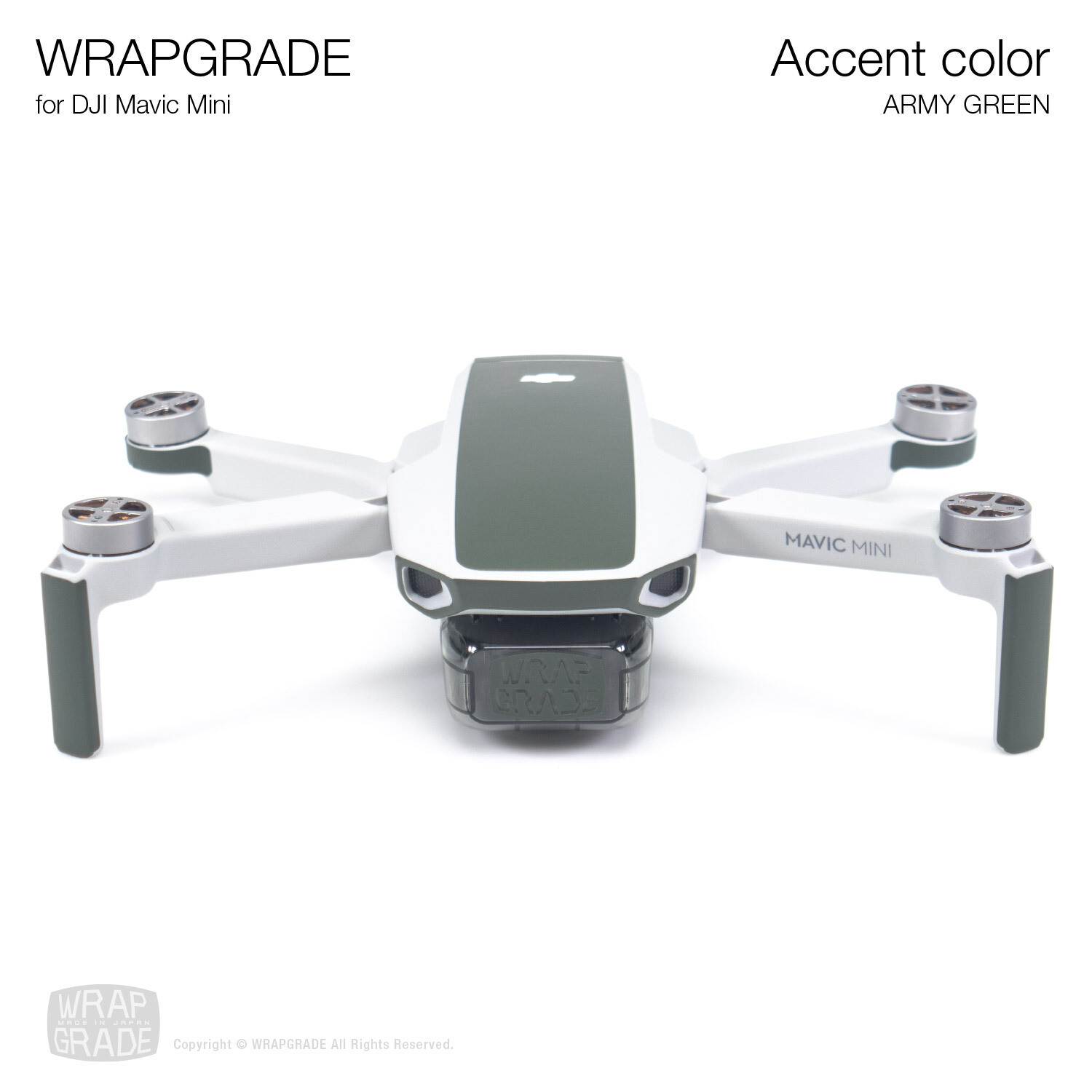 Wrapgrade Poly Skin for Mavic Mini | Accent color (ARMY GREEN)