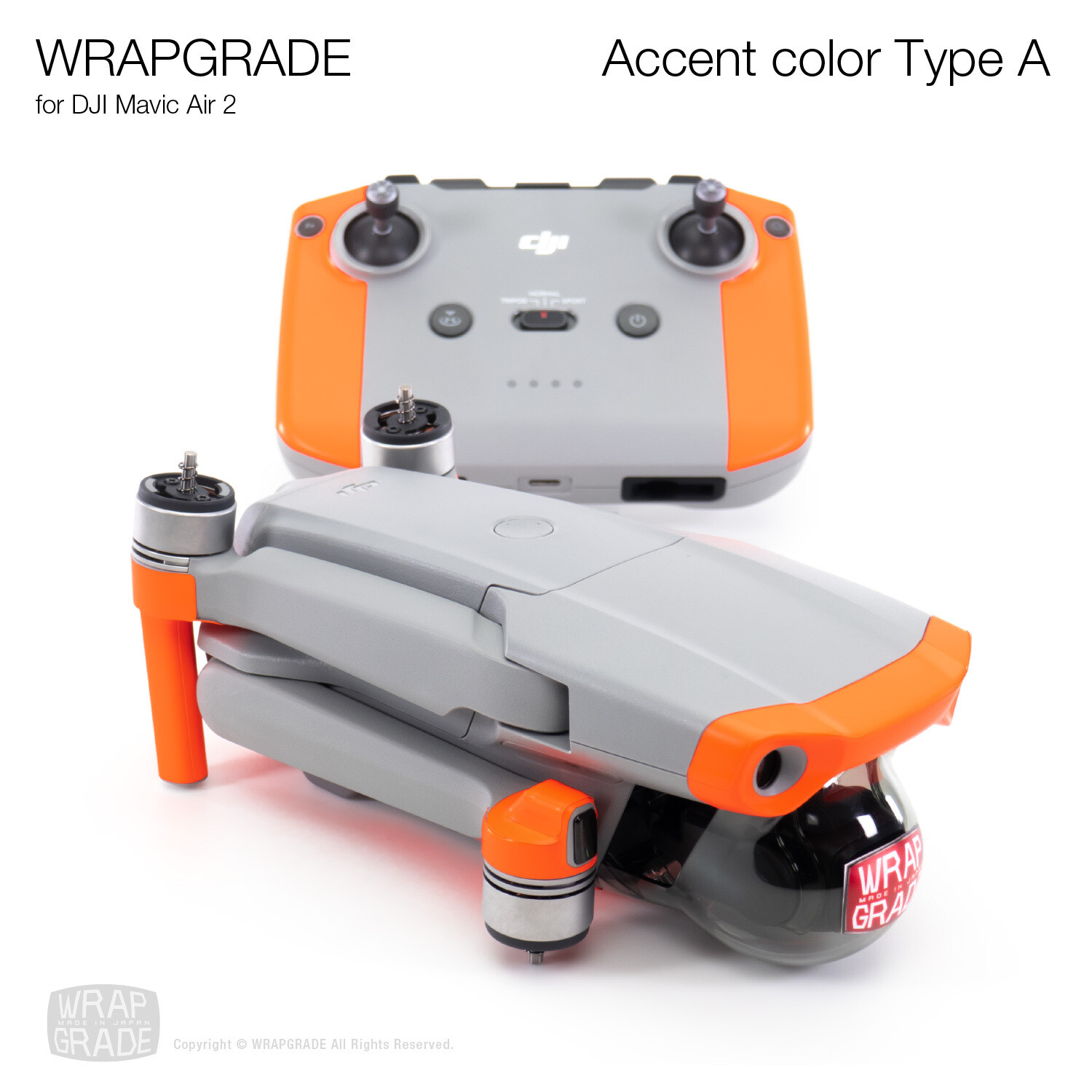 Wrapgrade Poly Skin for DJI Mavic Air 2 | Accent Color A [20 colors]