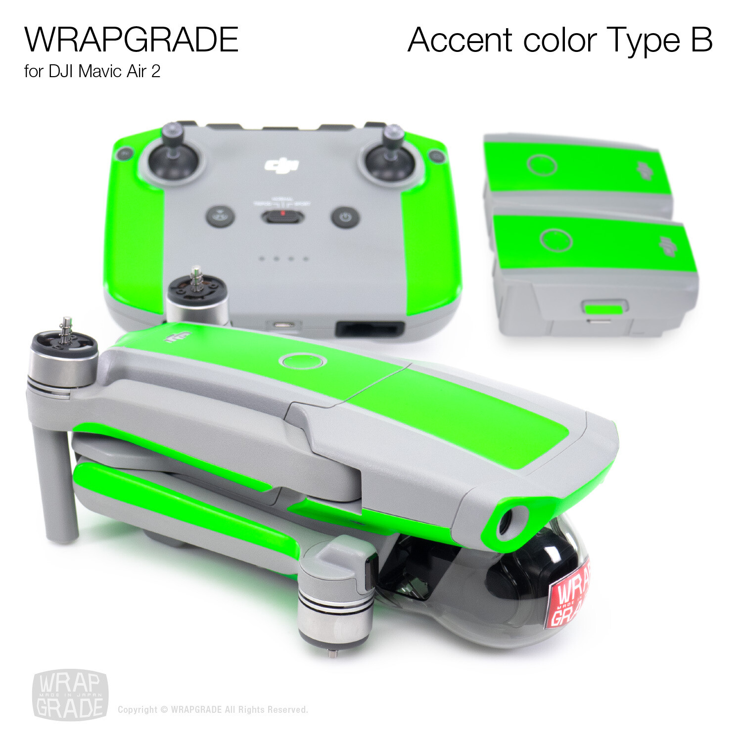 Wrapgrade Poly Skin for DJI Mavic Air 2   Accent Color B [20 colors]
