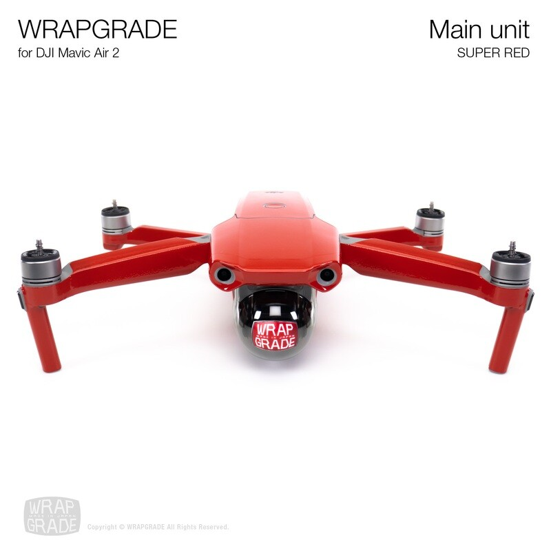 Wrapgrade for DJI Mavic Air 2 | Main Unit​ (SUPER RED​)