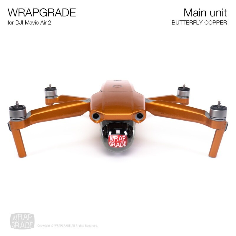 Wrapgrade for DJI Mavic Air 2 | Main Unit​ (BUTTERFLY COPPER​)