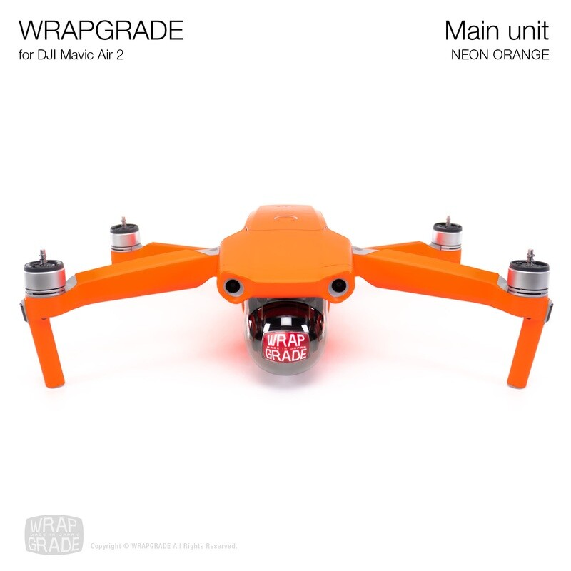 Wrapgrade for DJI Mavic Air 2 | Main Unit​ (​NEON ORANGE)