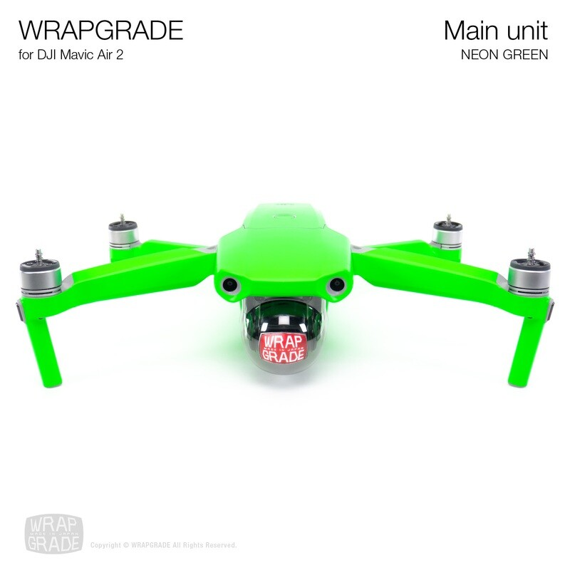 Wrapgrade for DJI Mavic Air 2 | Main Unit​ (​NEON GREEN)