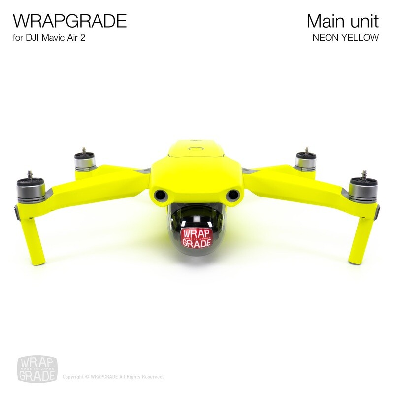 Wrapgrade for DJI Mavic Air 2 | Main Unit​ (NEON YELLOW​)