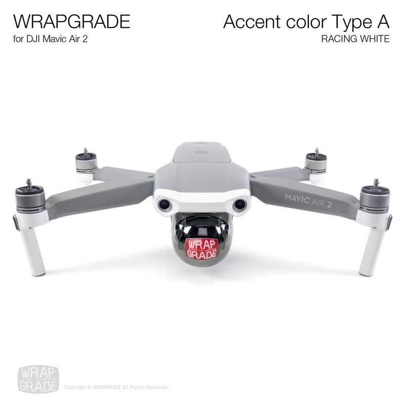 Wrapgrade for DJI Mavic Air 2 | Accent Color A (RACING WHITE)