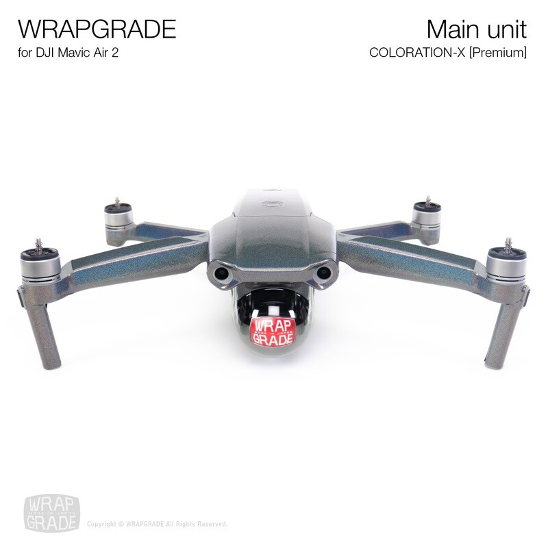 Wrapgrade for DJI Mavic Air 2 | Main Unit​ (​COLORATION-X)
