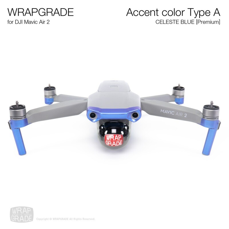 Wrapgrade for DJI Mavic Air 2 | Accent Color A (CELESTE BLUE)