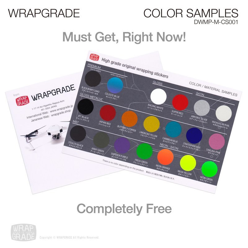 MATERIAL COLOR SAMPLES for FREE (AIRMAIL)