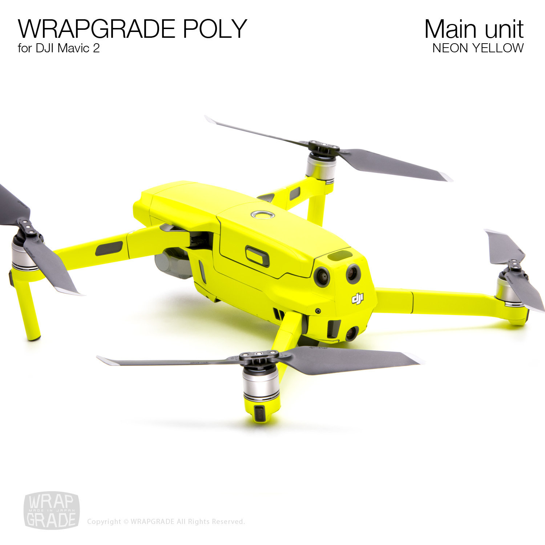 Wrapgrade Poly Skin for DJI Mavic 2 Remote Controller NEON Yellow
