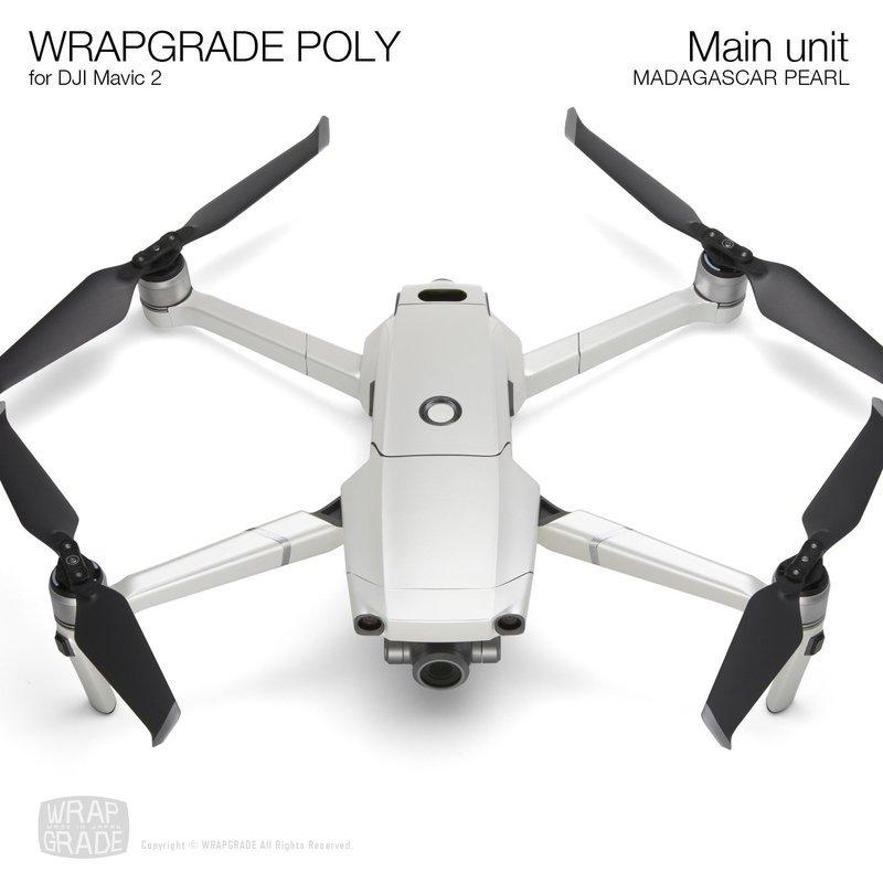 Wrapgrade Poly Skin for DJI Mavic 2 | Main unit (MADAGASCAR PEARL)