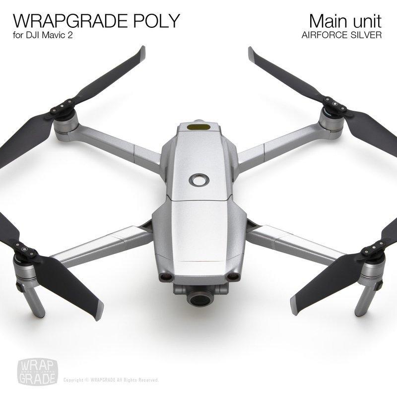Wrapgrade Poly Skin for DJI Mavic 2 | Main unit (AIRFORCE SILVER)
