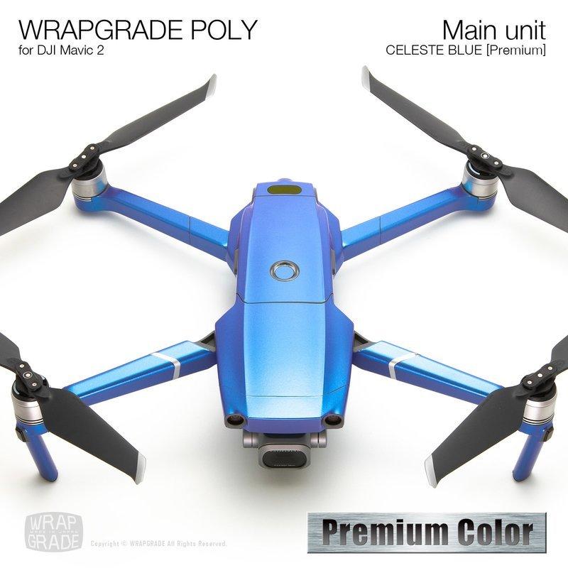 Wrapgrade Poly Skin for DJI Mavic 2 | Main unit (CELESTE BLUE)
