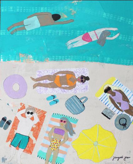Teal Me to the Beach (16x20) 00030
