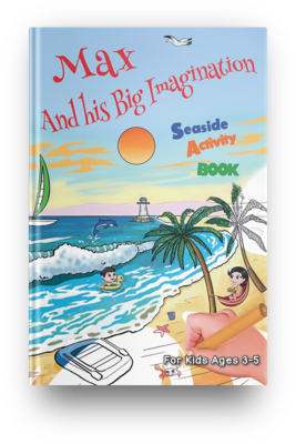 Seaside Activity Book (Age 3-5) - PDF Instant Download