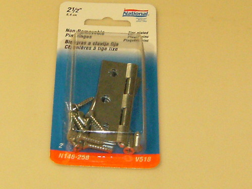 National NON Removable Pin Hinges 2-1/2""