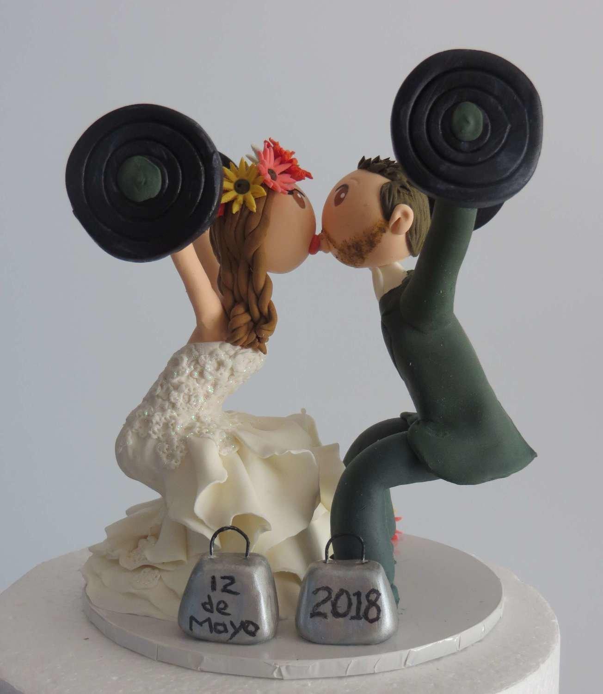 Crossfit Bride & Groom on Base board