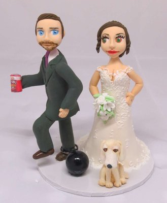 Groom with Ball & chain on round base board