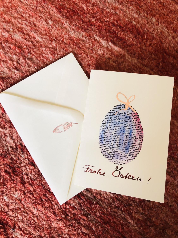 "Karte ""handmade"" Ostern Ei - Frohe Ostern"