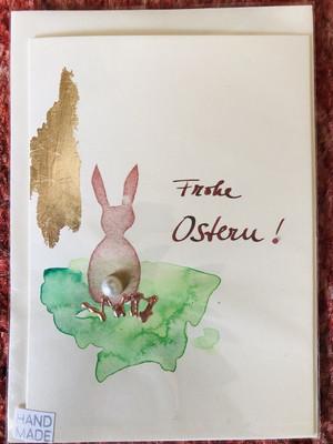 "Karte ""handmade"" Ostern Hase - Frohe Ostern!"