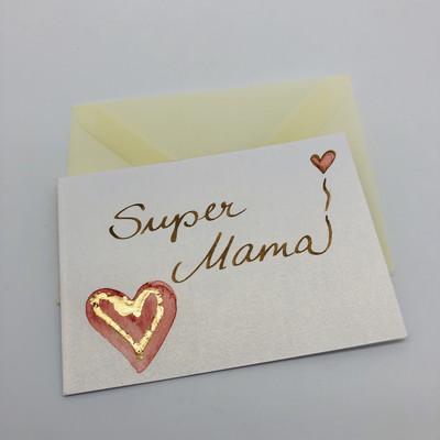 """Billett """"handmade"""" klein - Super Mama!"""