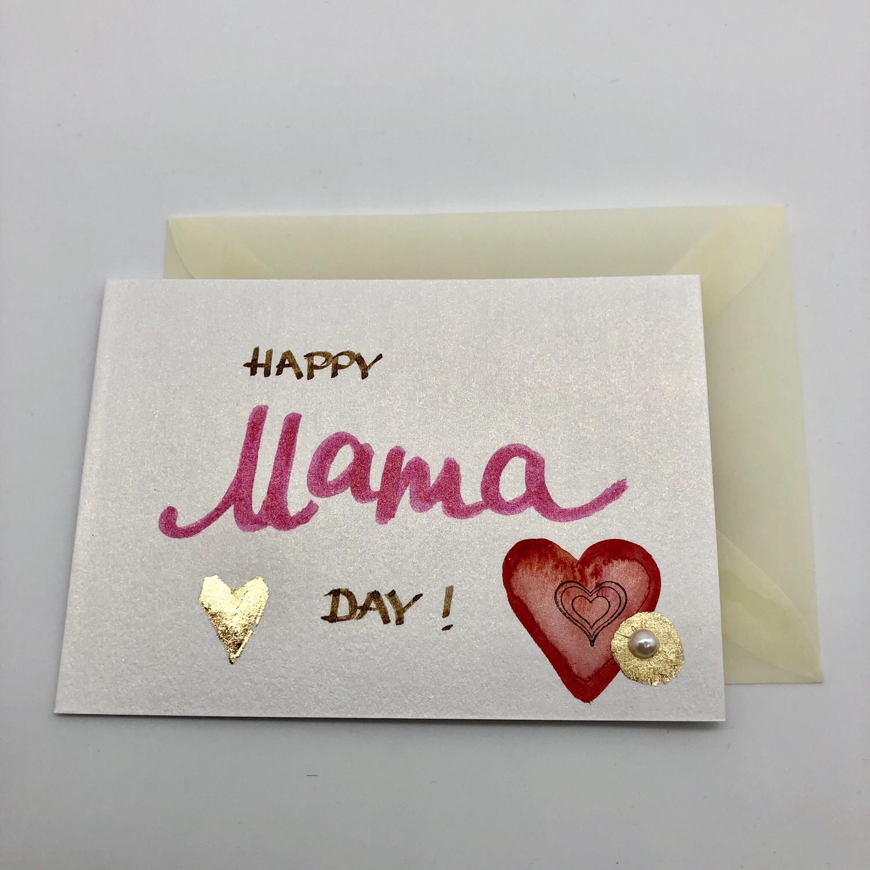 """Billett """"handmade"""" klein - Happy Mama Day!"""