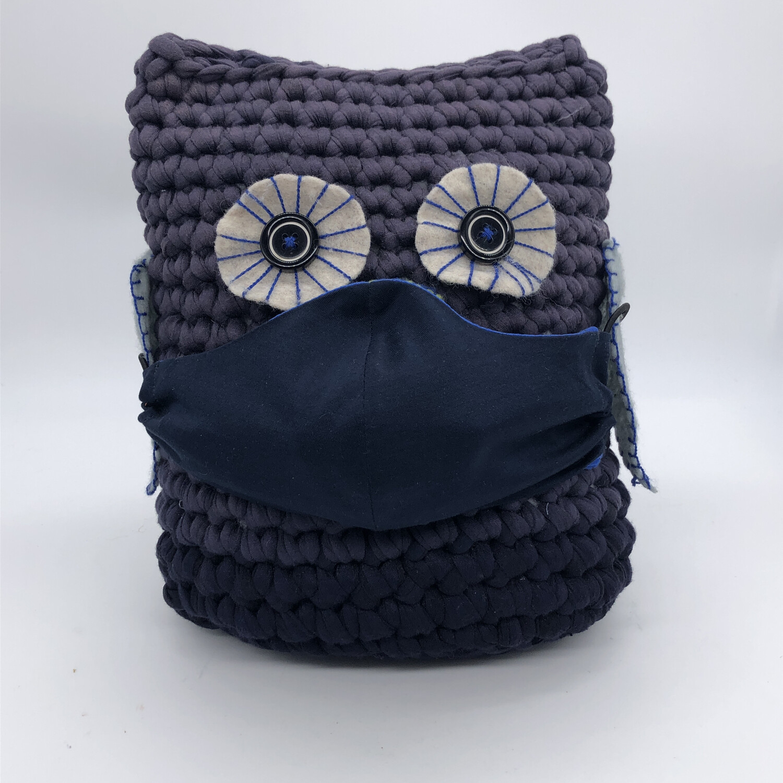 MNS (Mund-Nasen-Schutz Maske) - dunkel/mittelblau