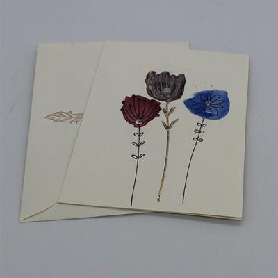 "Billett ""handmade"" groß Blumen"
