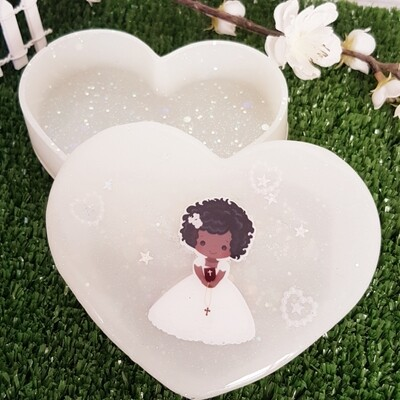 Baptism Gift Heart Box