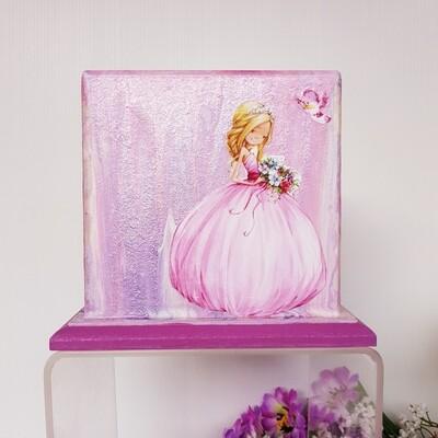 Princess Wooden Money Box